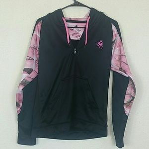 Legendary pink and black camo hoodie